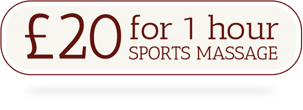 £20 for a 1 hour sports massage